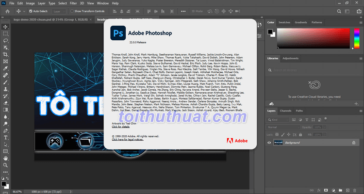 Hướng dẫn download & cài đặt Photoshop 2021 Full Cr@ck