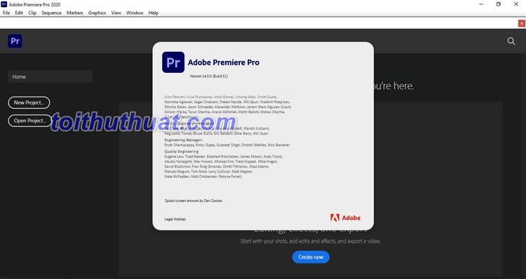 Hướng dẫn tải & cài đặt Premiere Pro CC 2020 v14.5 Full Cr@ck [Miễn Phí]
