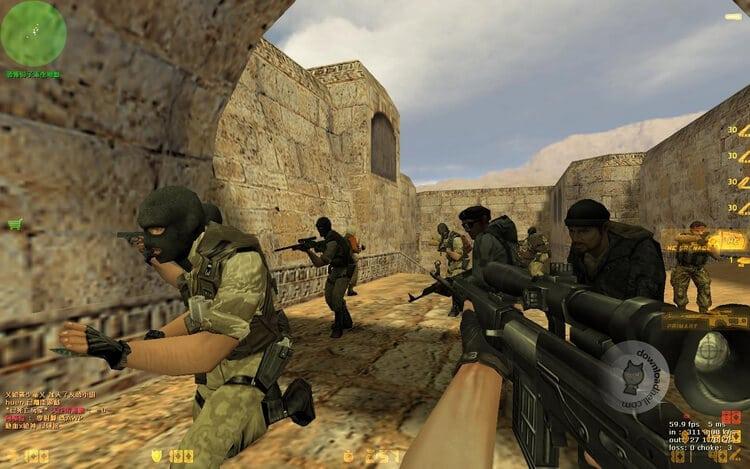 Hướng dẫn tải tựa game bắn súng Counter-Strike 1.6 full cr@ck