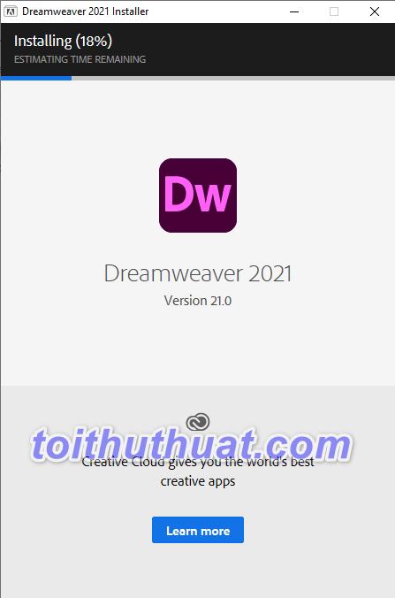 Hướng dẫn cài đặt Dreamweaver CC 2021