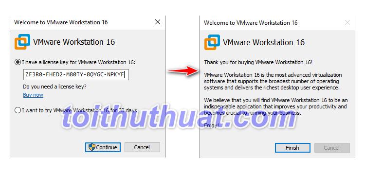 Hướng dẫn cài đặt VMware Workstation 16 Full Key mới nhất