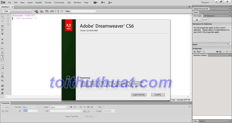 Tải Dreamweaver CS6 Full Cr@ck Miễn Phí Về Máy Tính