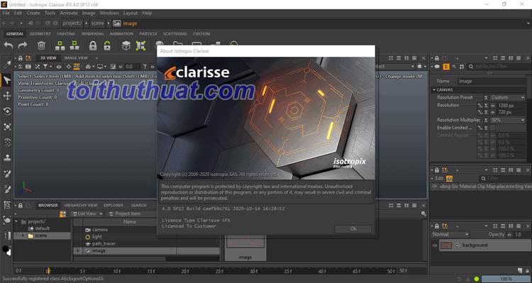 Tải Clarisse IFX 4.0 Full Cr@ck miễn phí về máy tính