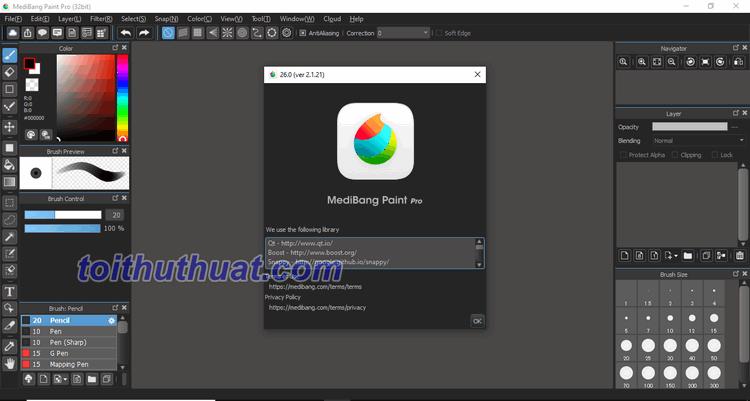 Hướng dẫn cài đặt & Download MediBangPaint 26 Pro Full
