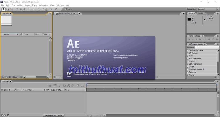 Tải After Effects CS3 Full Cr@ck tại toithuthuat.com