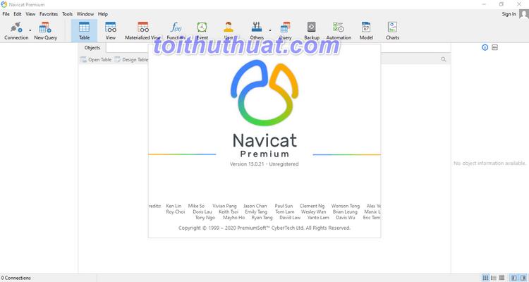 NavicatPremium 15.0.21 - Quản trịcơ sở dữ liệu
