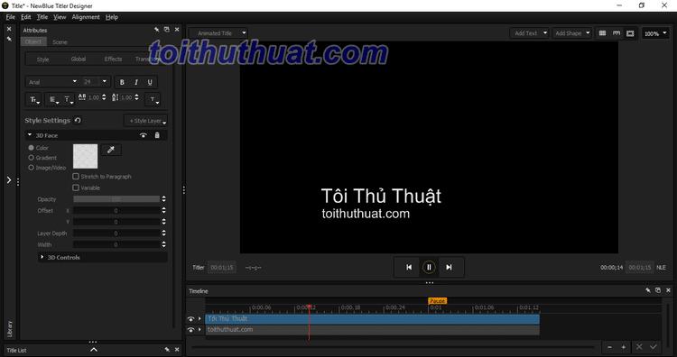 Phần mềm Titler Pro 7 - Thêm tiều đề vào Video