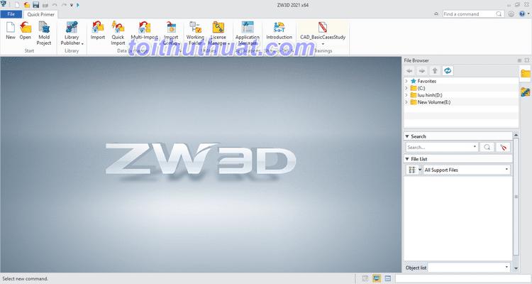 ZWCAD 2021 Full - Phần mềm CAD 3D/CAM