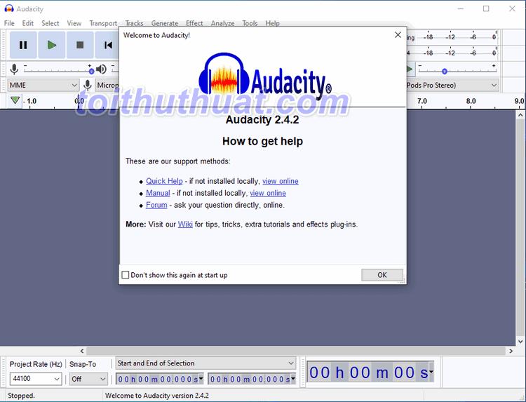 Cùng trải nghiệm phần mềm Audacity - hỗ trợ ghi âm và xử lý âm thanh