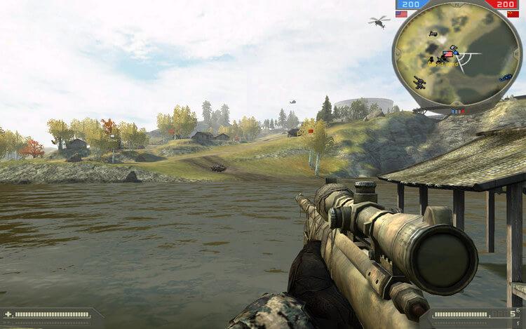 Nhắm tầm gần tầm xa gì cũng được hết, tải game Battlefield 2 về chiến nhé