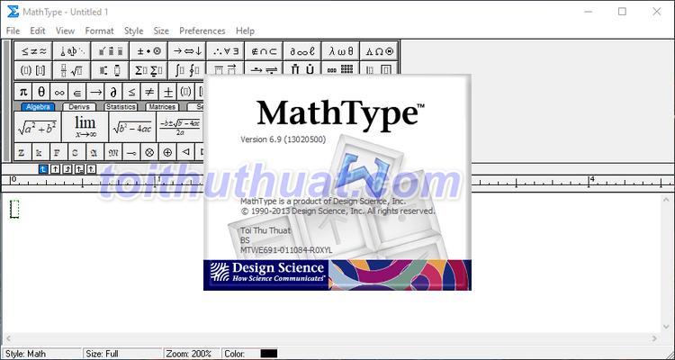 Tải Mathtype 6.9 Full Key Mới Nhất Miễn Phí