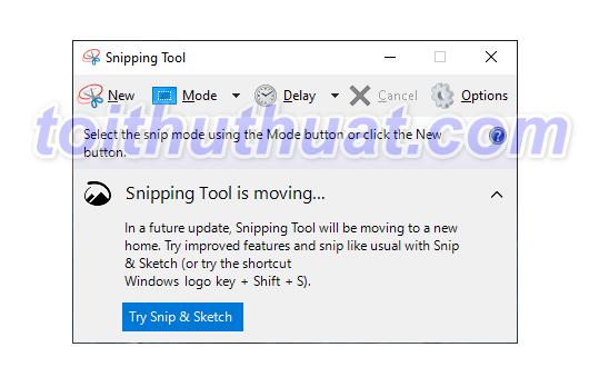 [Download] Snipping Tool Full - Chụp ảnh màn hình