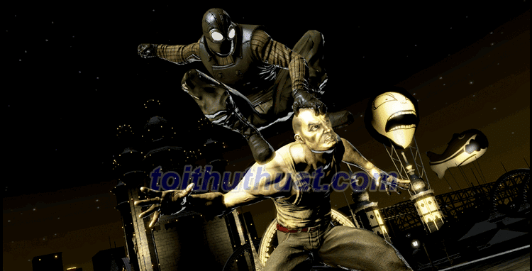 Lối chơi trong game offline Spider-Man: Shattered Dimensions cực hấp dẫn