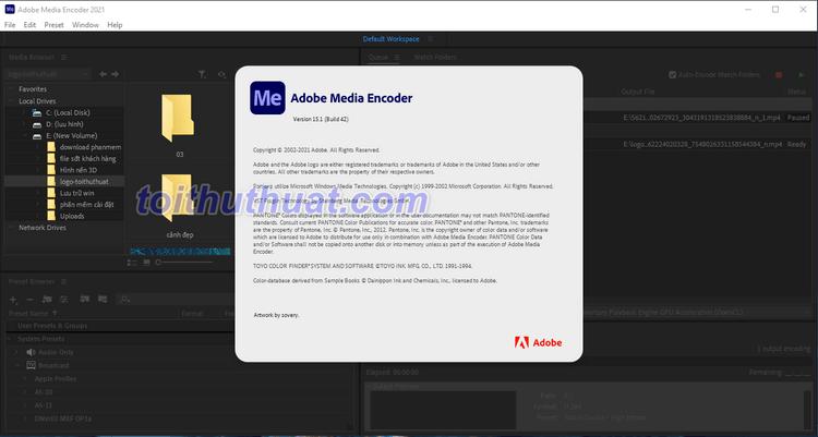 Hướng Dẫn Tải & Cài Đặt Adobe Media Encoder CC 2021