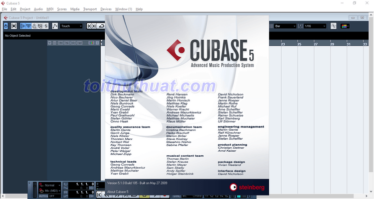 Hướng dẫn download Cubase 5 Full For PC Free