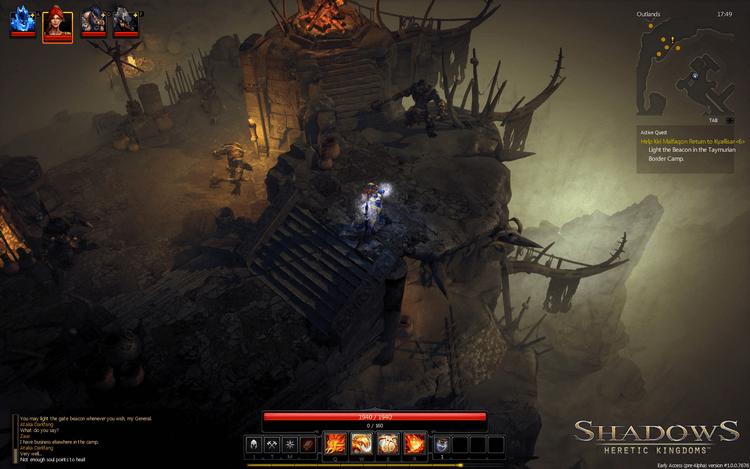 Game Shadows: Heretic Kingdoms chặt chém đã mắt