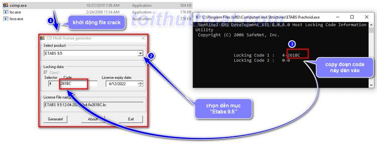 Hướng dẫn cài đặt crck cho Etabs trên máy tính windows 10