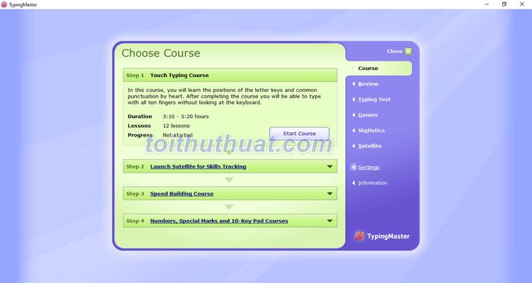 TypingMaster Pro 10 - Phần mềm luyện gõ phím 10 ngón