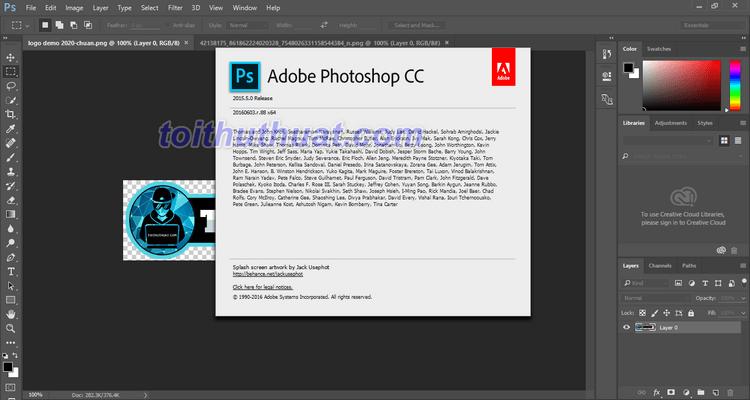Admin đã tải và cài đặt thành công Photoshop CC 2015 rồi nè