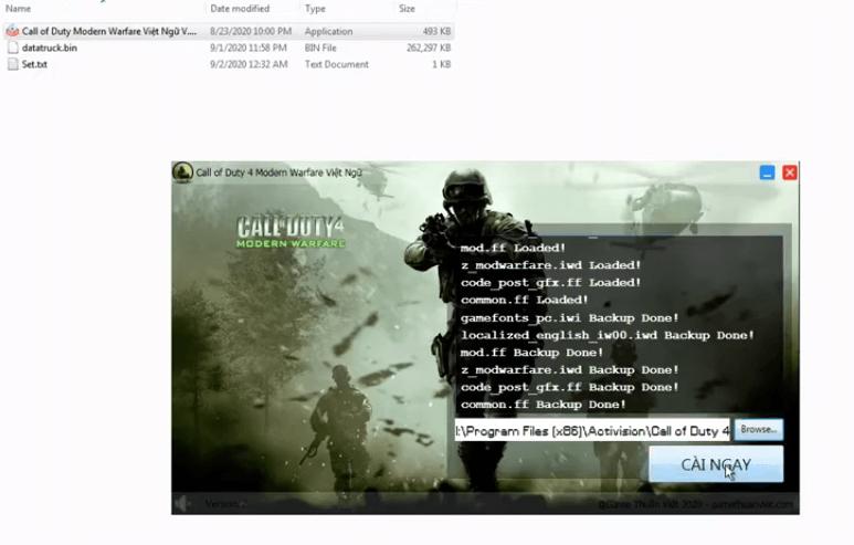 Hướng dẫn cài đặt game Call of Duty 4 Modern Warfare Việt Hóa