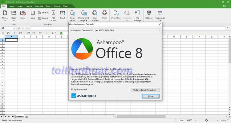Ashampoo Office 2021 - Công cụ văn phòng Office