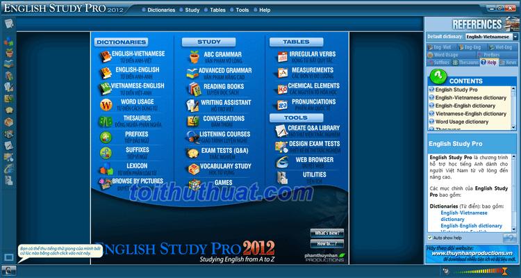 English Study Pro 2012 - Phần mềm học tiếng Anh