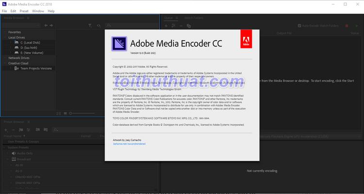 Hướng dẫn tải và cài đặt Adobe Media Encoder CC 2018
