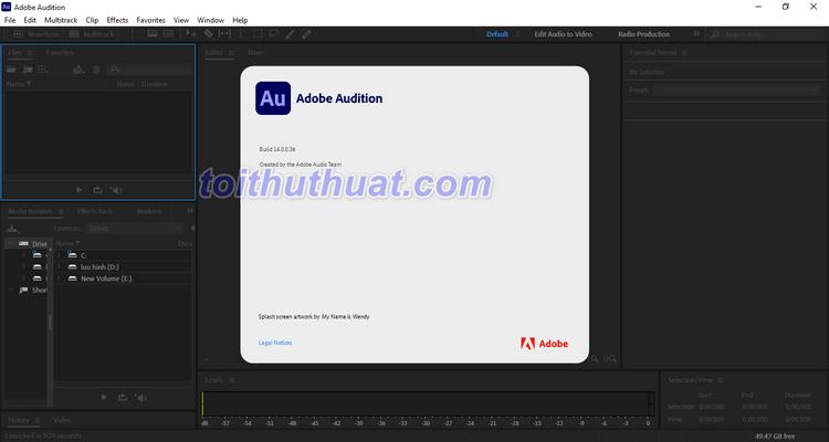 Hướng dẫn tải và cài đặt phần mềm Adobe Audition CC 2021