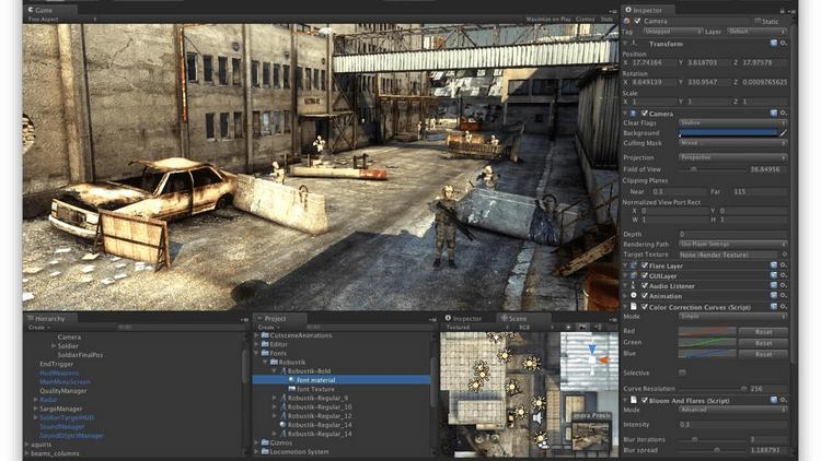Unity 3D Pro 2019 - Hỗ trợ tạo trò chơi 2D, 3D