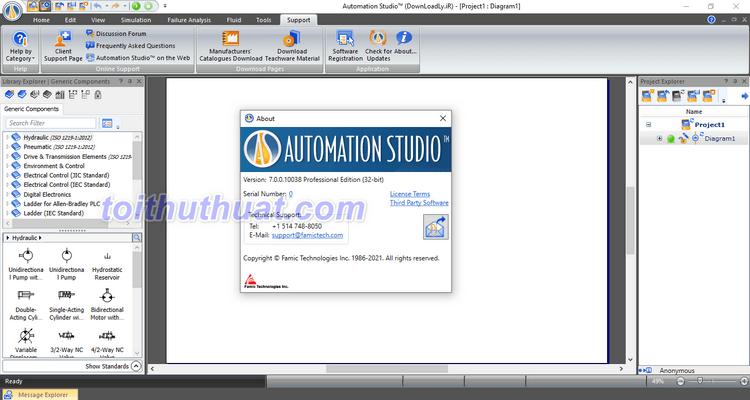 Automation Studio 7 - Thiết kế & mô phỏng tự động hóa