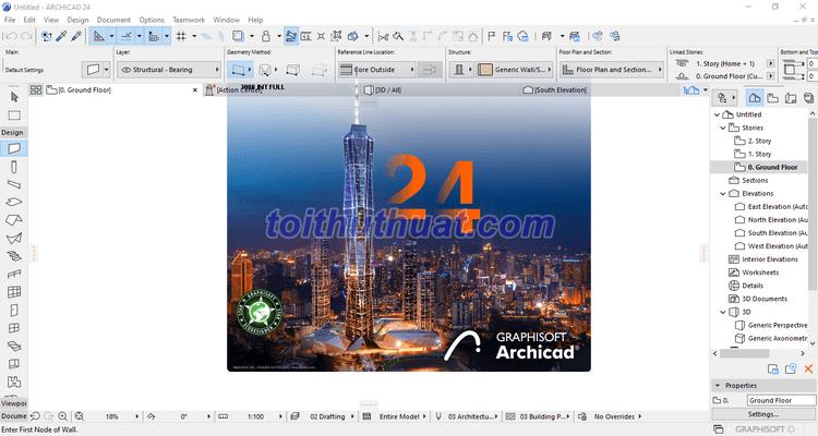 ArchiCAD 24 - Thiết kế kiến trúc 3D