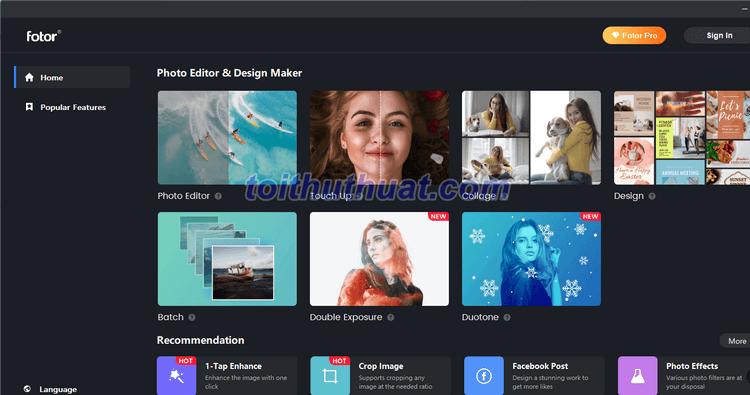 Fotor for Windows 3 - Chỉnh sửa ảnh
