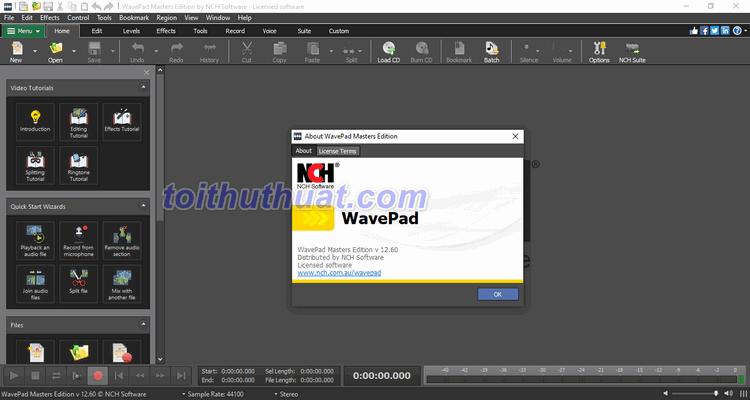 WavePad Sound Editor 12 - Chỉnh sửa âm thanh
