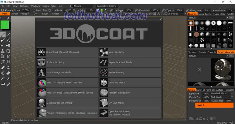 3D Coat 4 - Hỗ trợ tạo mô hình 3D