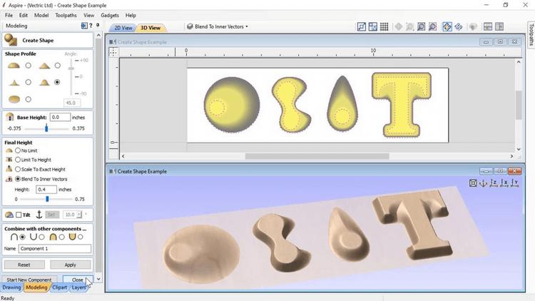Vectric Aspire 10 - Thiết kế mô hình 3D