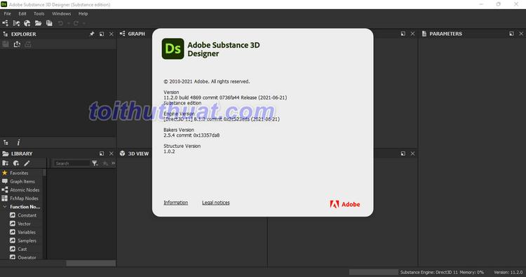 Adobe Substance 3D Designer 2021 - Tạo, thiết kế vật liệu 3D