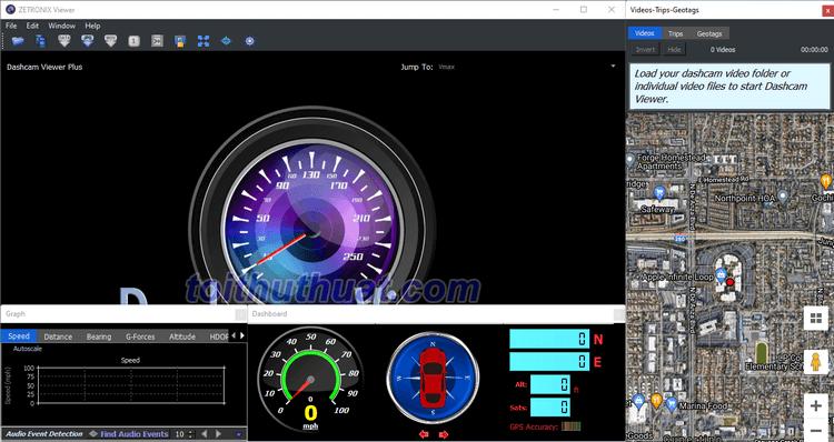 Tính năng trong phần mềm Dashcam Viewer 3