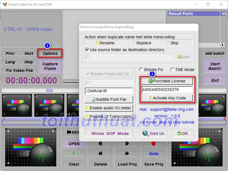 Hướng Dẫn Cài Đặt Smart Cutter for DV and DVB 1