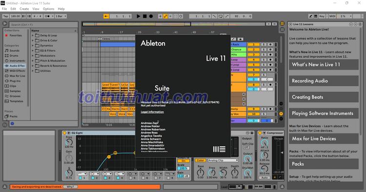 Ableton Live Suite 11 - Biên tập âm nhạc