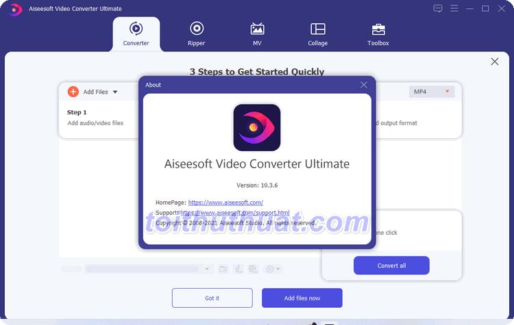 Aiseesoft Video Converter Ultimate 10 - Chuyển đổi video