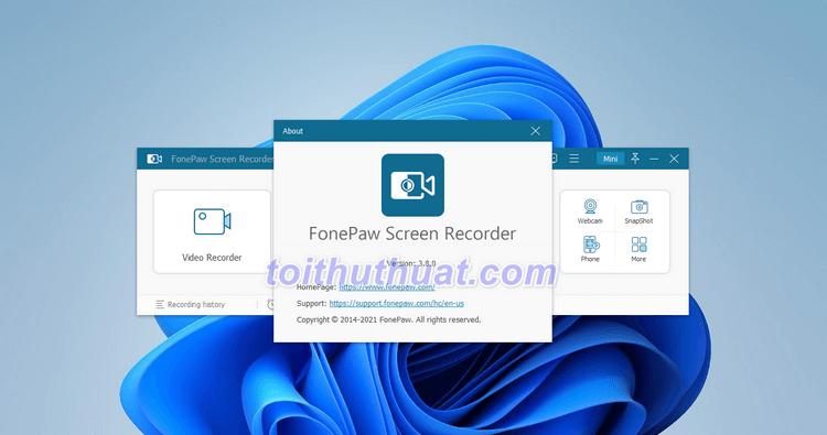 FonePaw Screen Recorder 3 - Chụp, quay màn hình máy tính