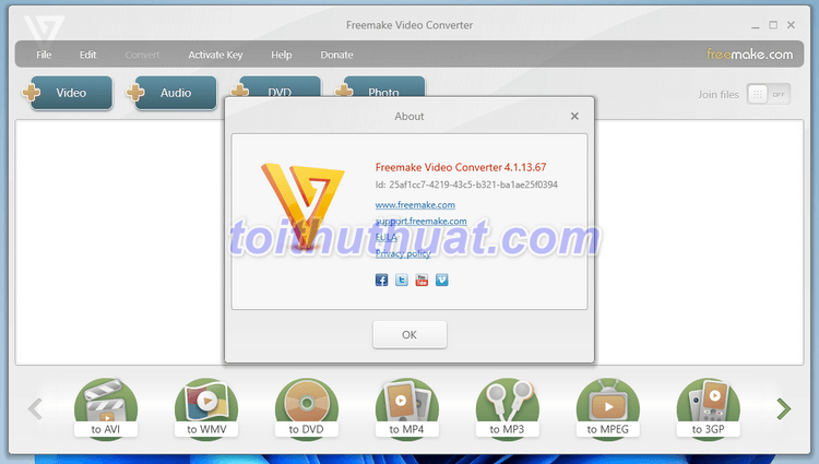 Freemake Video Converter Gold 4 - Chuyển đổi định dạng video