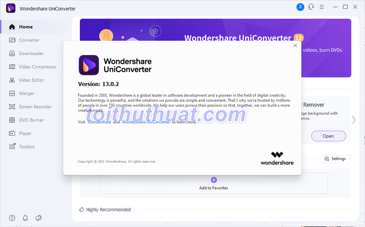Wondershare UniConverter 13 - Trình chuyển đổi đa phương tiện