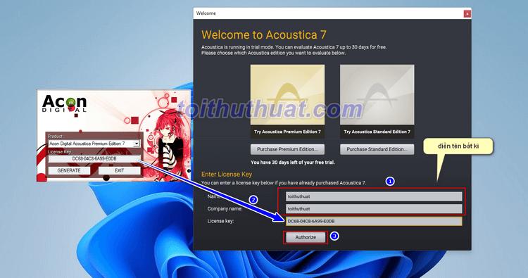 Hướng dẫn cài đặt Acoustica Premium Edition 7