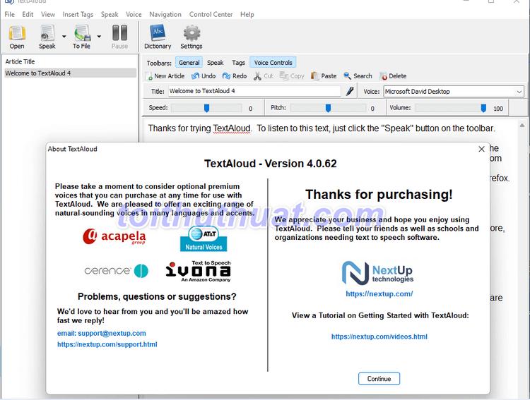 NextUp TextAloud 4 - Chuyển văn bản thành giọng nói