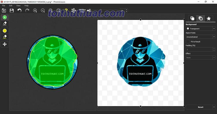 Hướng dẫn tải và cài đặt phần mềm PhotoScissors 8 - Xóa nền ảnh