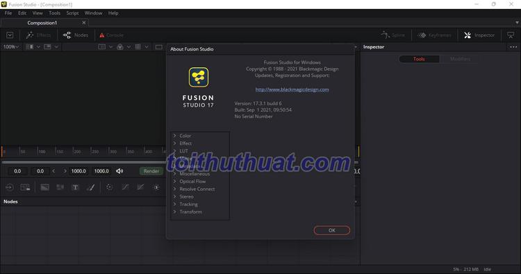 [Download] Blackmagic Design Fusion Studio 17 - Tạo hiệu ứng, chuyển động