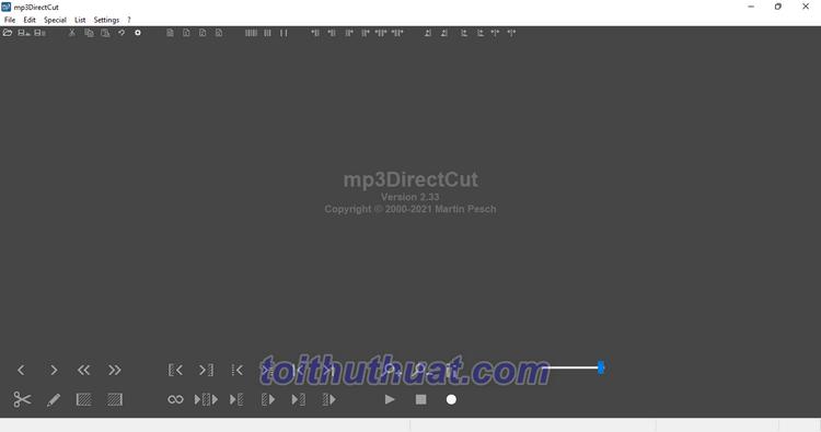 [Download] mp3DirectCut 2 - Ghi & Chỉnh sửa âm thanh