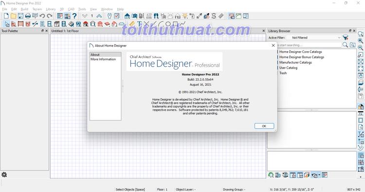[Download & Cài Đặt] Home Designer 2022 - Thiết kế kiến trúc 3D